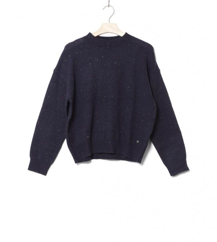 Wemoto W Knit Pullover Frankie blue navy nep