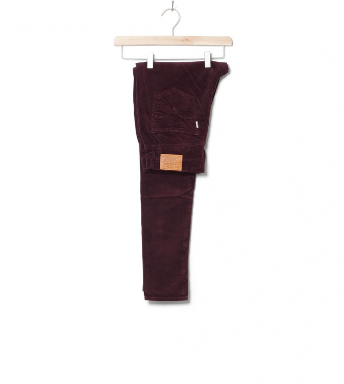 Levis W Jeans 721 High Rise Skinny red malbec luxe cord 26/30