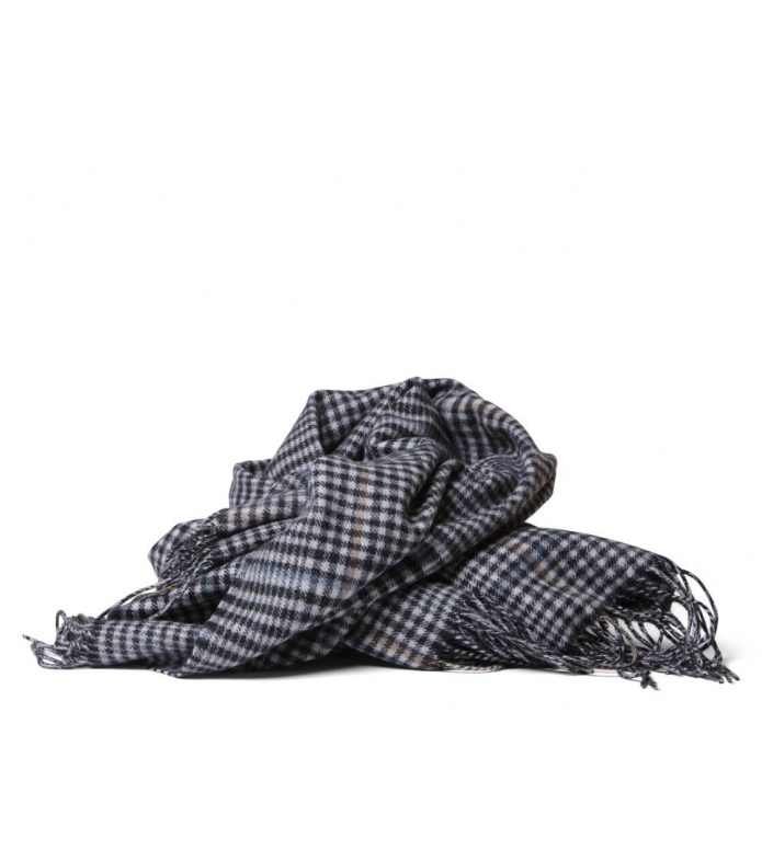 MbyM MbyM Scarf SID Check Livley grey check blue brown