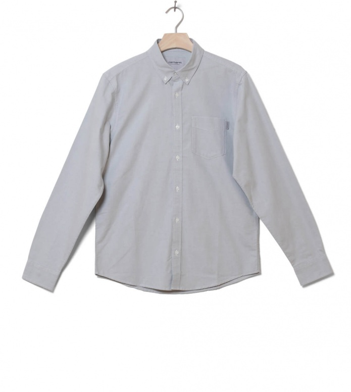 Carhartt WIP Shirt Button Down Pocket grey cloudy S