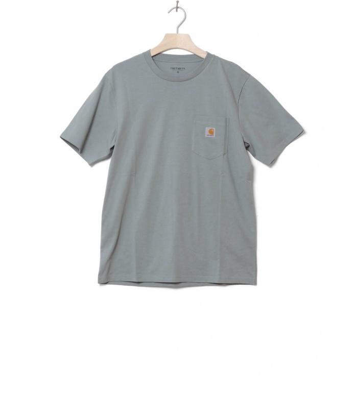 Carhartt WIP T-Shirt Pocket blue cloudy S