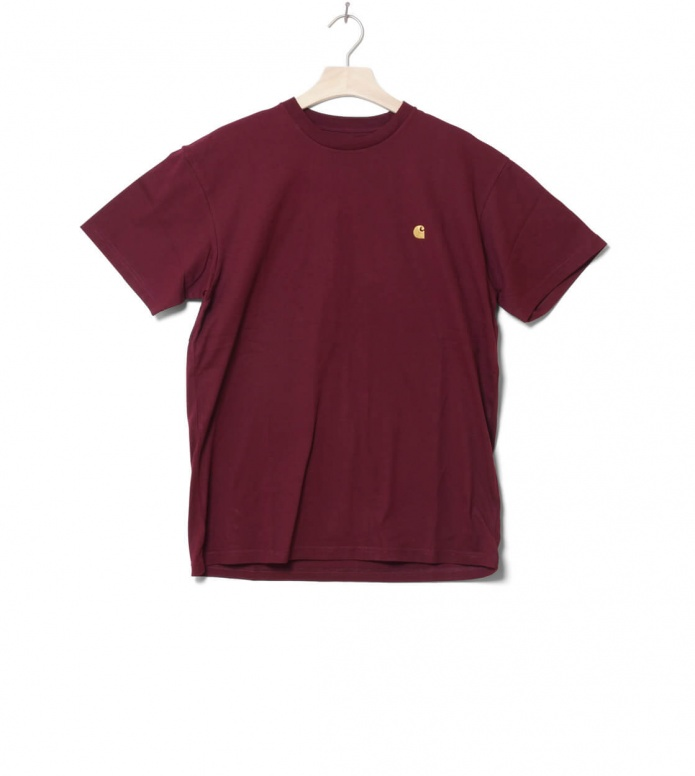 Carhartt WIP T-Shirt Chase red merlot/gold L