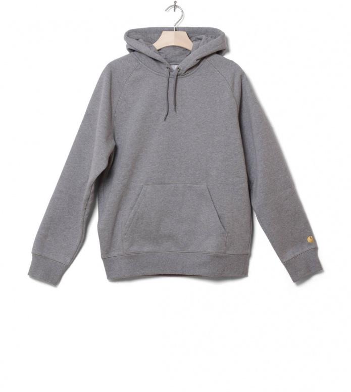 Carhartt WIP Hooded Sweater Chase grey dark heather XL