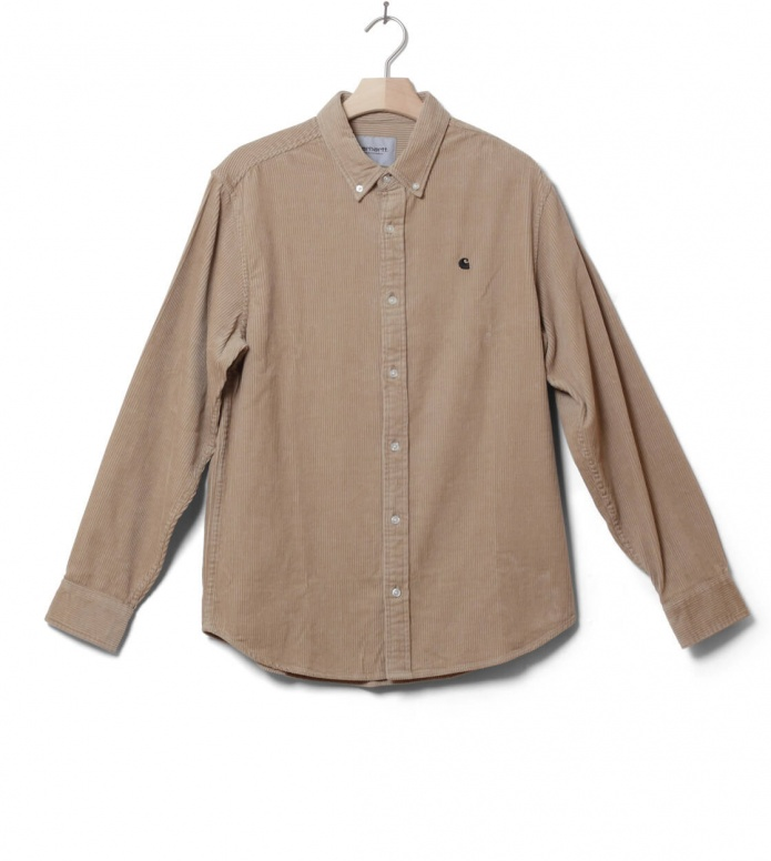 Carhartt WIP Shirt Madison beige wall/black S