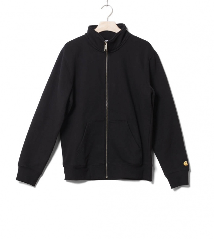 Carhartt WIP Zip Sweater Chase black/gold L