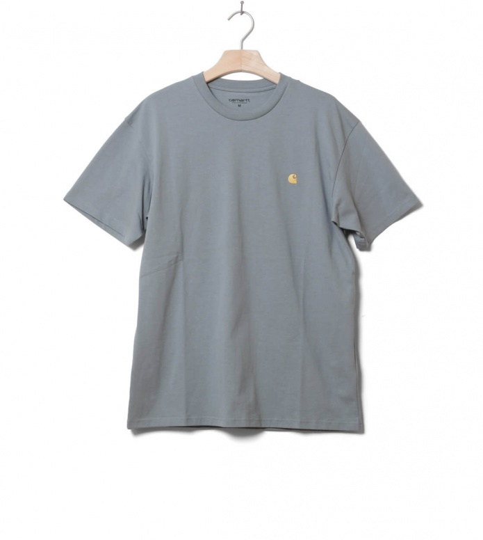 Carhartt WIP T-Shirt Chase blue cloudy/gold M