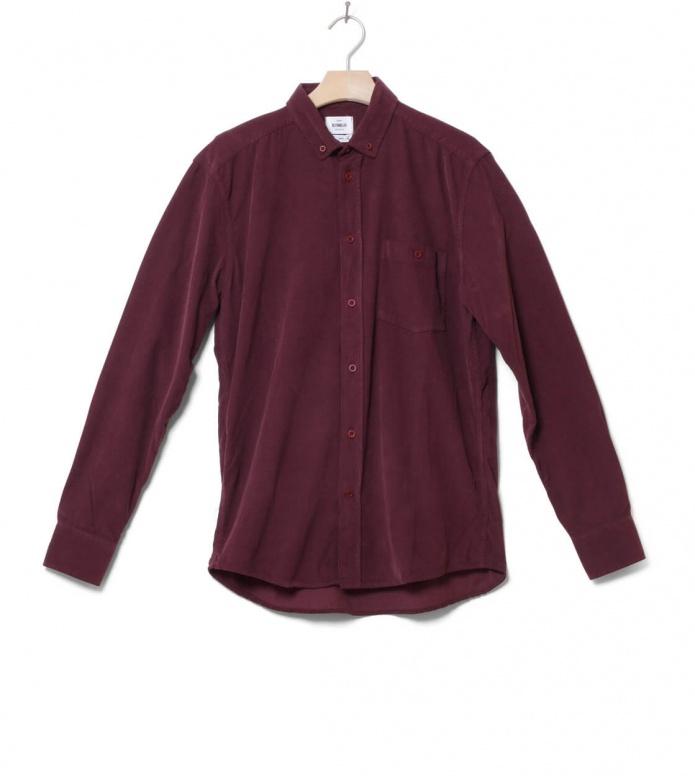 Klitmoller Shirt Benjamin Cord red bordeaux S