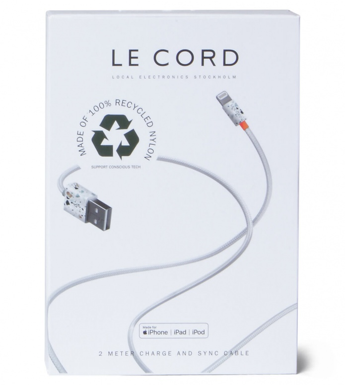 Le Cord Le Cord Charge & Sync Cable Terrazzo grey multi color