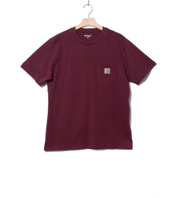 Carhartt WIP Carhartt WIP T-Shirt Pocket red shiraz