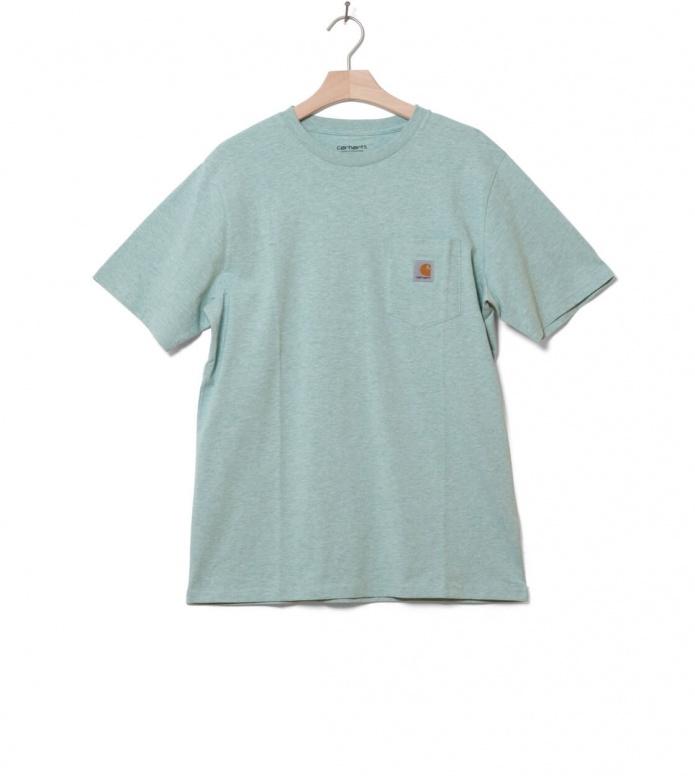 Carhartt WIP Carhartt WIP T-Shirt Pocket green zola heather