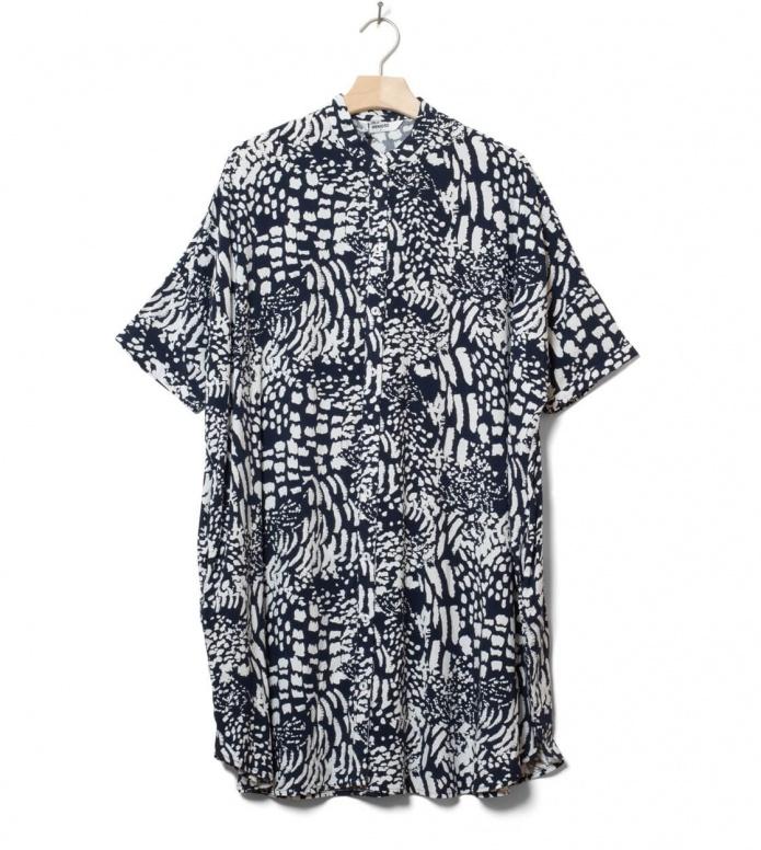 Wemoto W Dress Hume Printed blue navy-off white XS