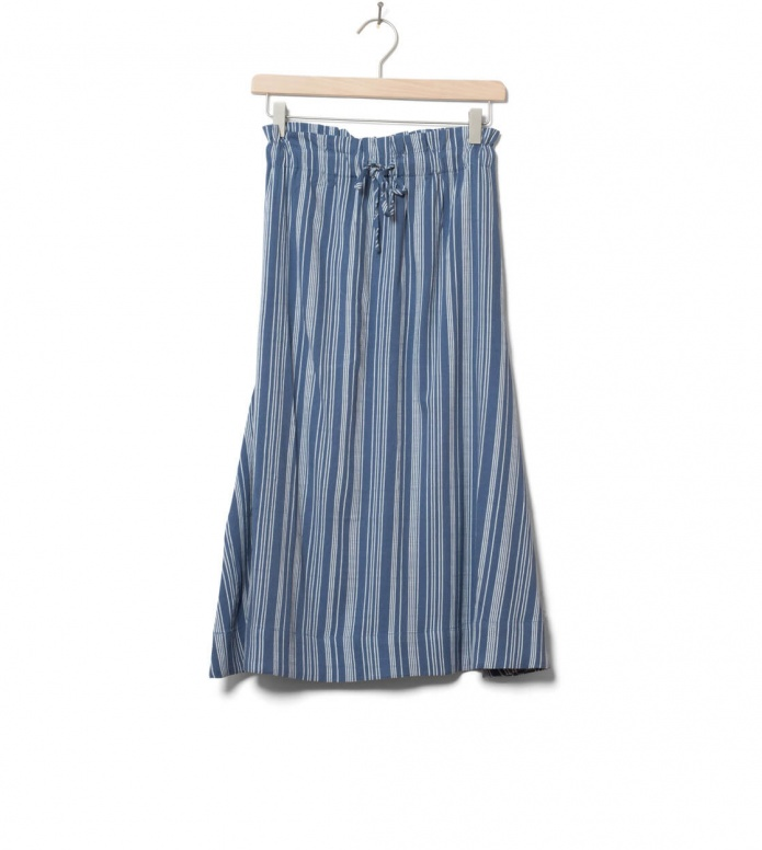 Wemoto W Skirt Alina Printed blue indigo XS