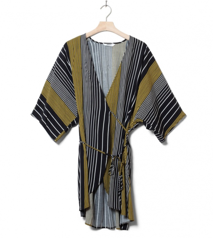 Wemoto W Dress Riva Printed black-yellow XS