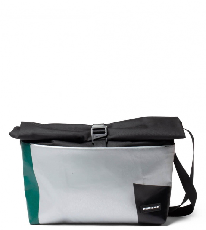 Freitag Freitag ToP Bag Rollin black/silver/green/black