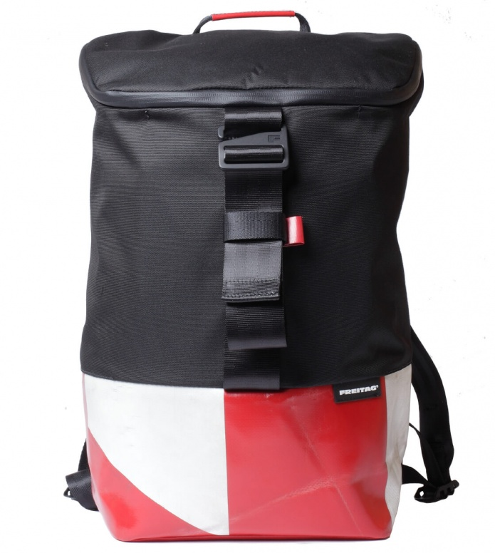 Freitag Freitag ToP Backpack Carter black/red/white