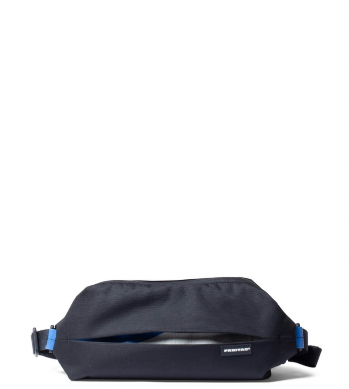 Freitag Freitag ToP Hip Bag Phelps black/white/blue
