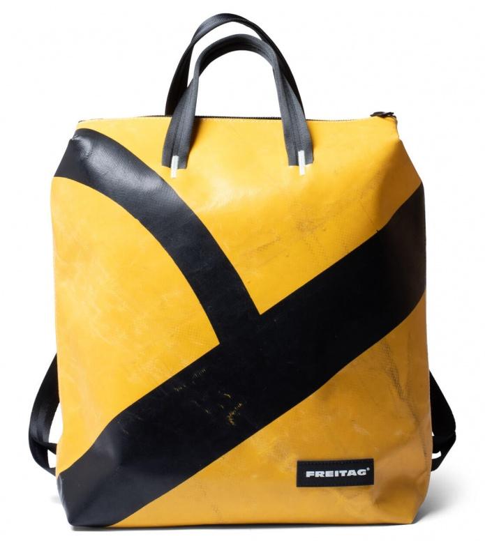Freitag Freitag Backpack Pete yellow/black