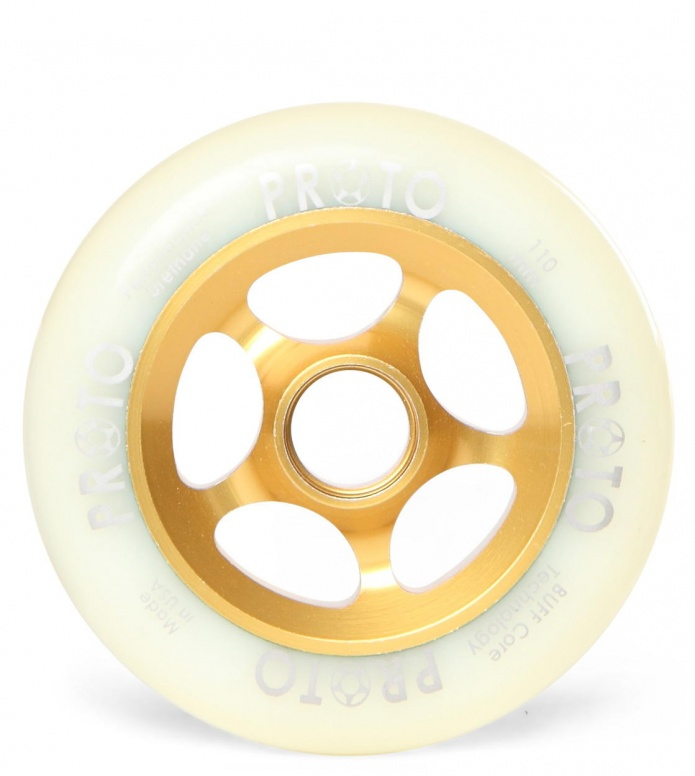 Proto Wheel Slider gold/white 110mm