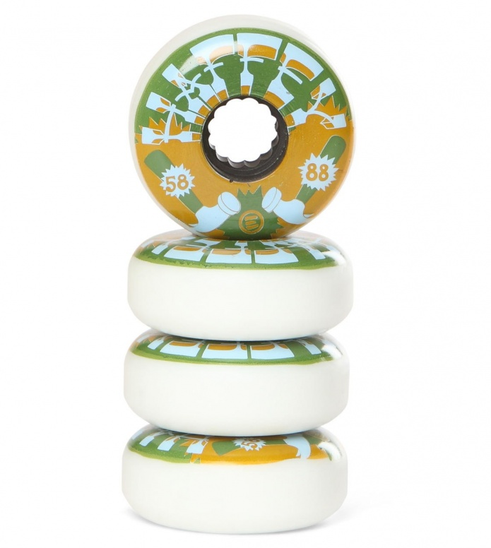 Eulogy Wheels Chris Haffey Vintage  green/beige 58mm/88A
