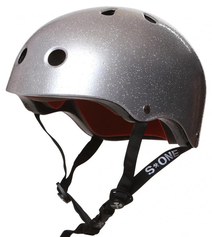 S1 S1 Helmet Lifer silver glitter