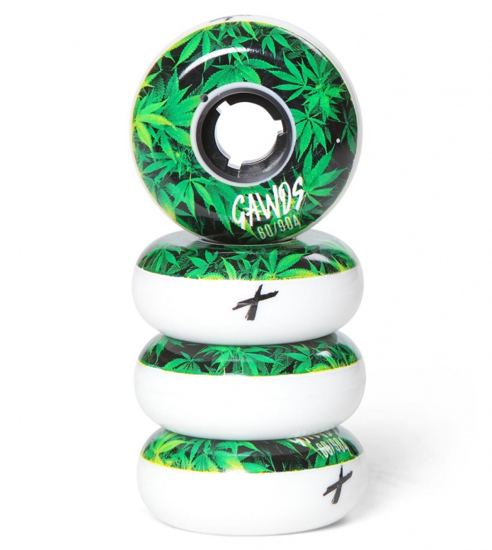 Gawds Wheels Pro Team Weed green/white 60mm/90A