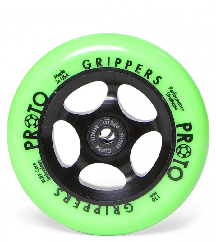 Proto Wheel Gripper 110er black/green neon