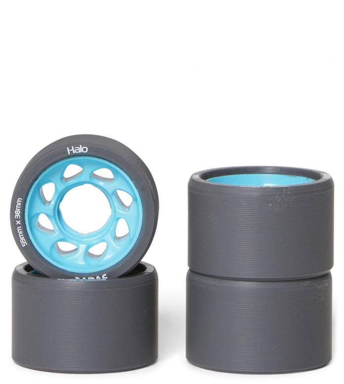 Radar Wheels Halo black/blue 59mm/95A