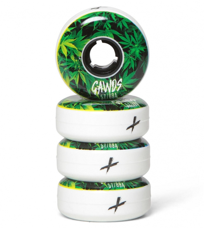 Gawds Wheels Pro Team Weed Flat green/white 57mm/89A