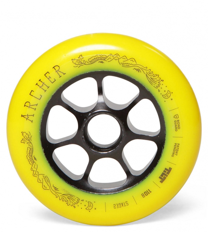 Tilt Wheel Archer yellow 110mm