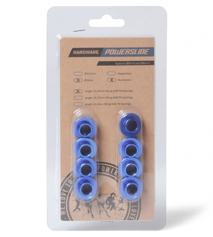 Powerslide Spacers Aluminum blue