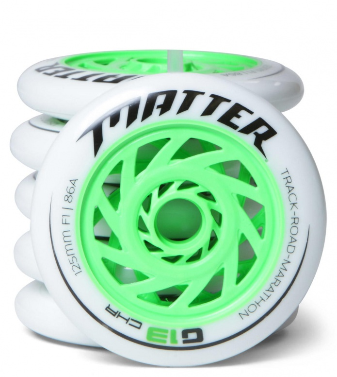 Matter Wheels F1 G13 125er green/white 125mm/86A