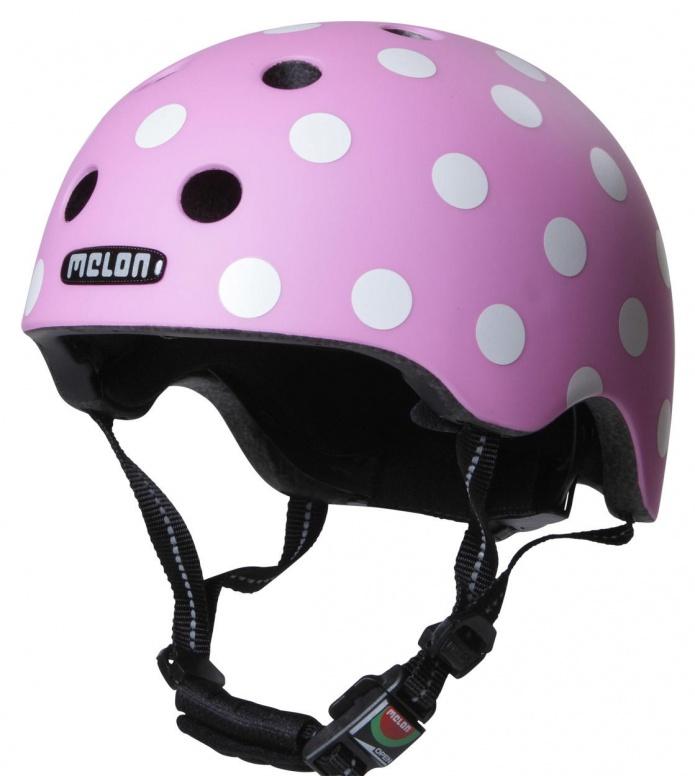 Melon Melon Helmet Dotty pink