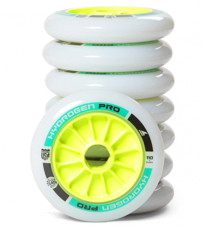 Rollerblade Wheels Hydrogen Pro X Firm 110er white/green 110mm