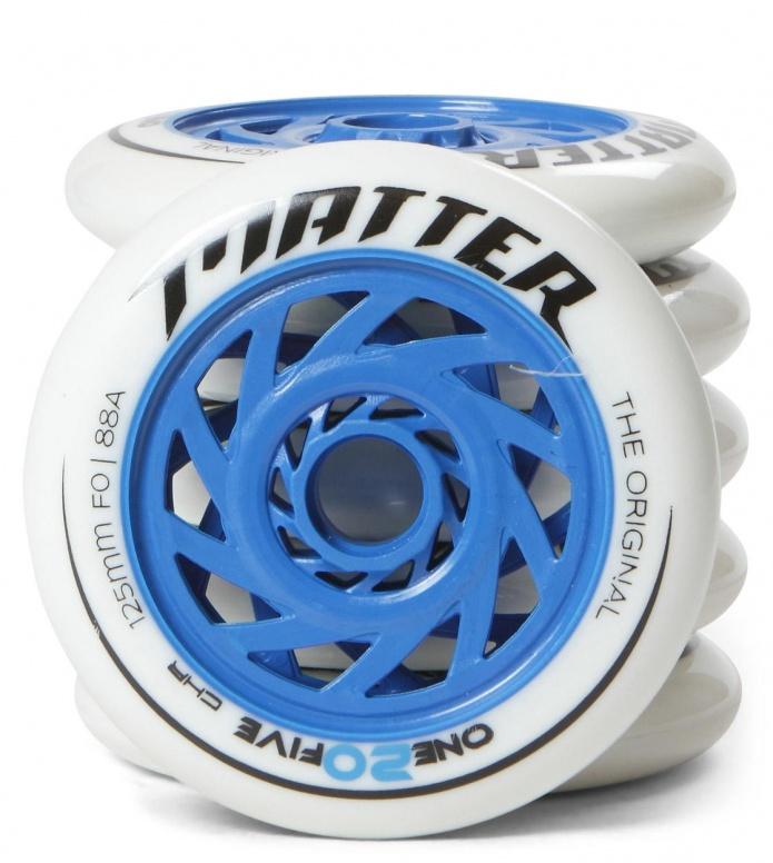 Matter Wheels F0 one20five 125er blue/white 125mm/88A