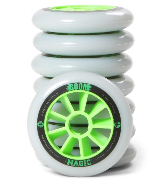 Atom Wheels BOOM Magic X Firm 110er white/green 110mm/86A