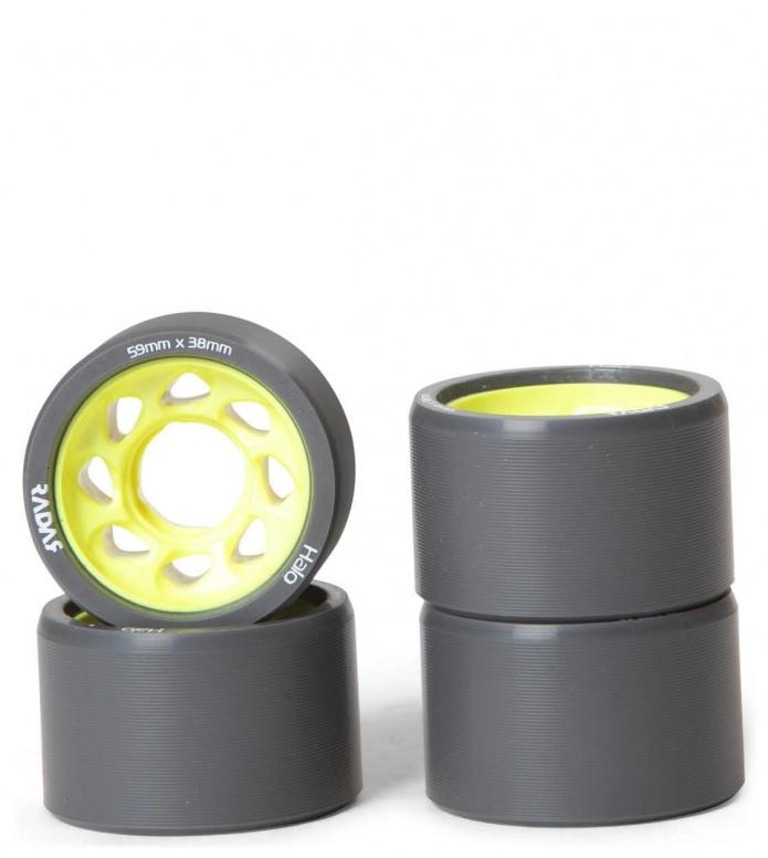 Radar Wheels Halo 59er black/yellow 59mm/91A