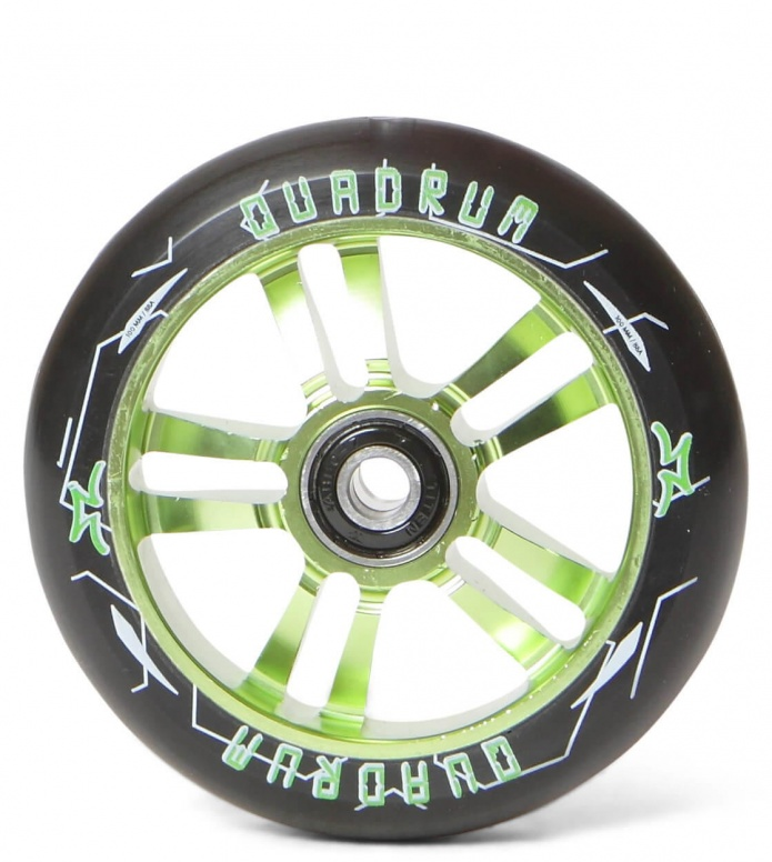 AO Wheel Quadrum 10-Star 100er green 100mm