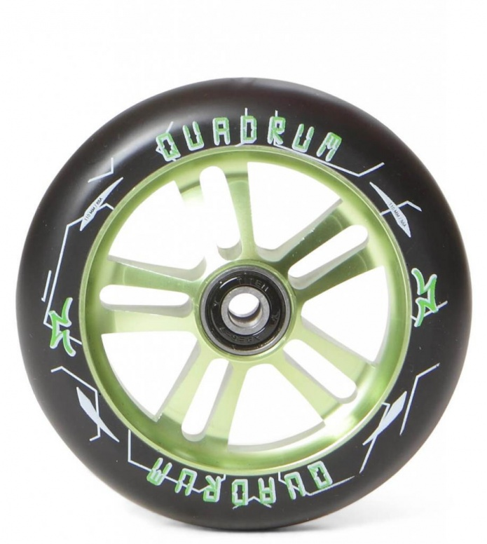 AO Wheel Quadrum 10-Star 110er green 110mm