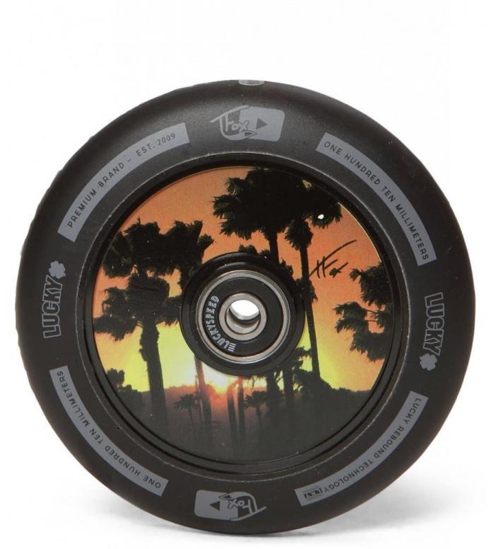 Lucky Wheel Tanner Fox 110er black/orange 110mm