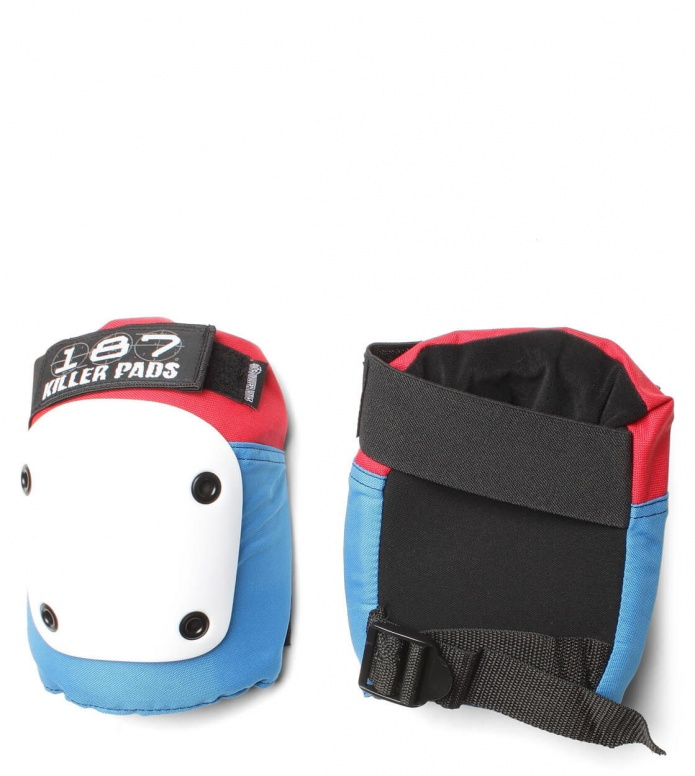 187 Killer Protection Knee Pads Fly red/white/blue XS