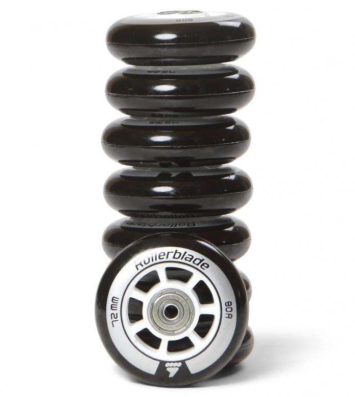 Rollerblade Wheels Performance 72er black/silver