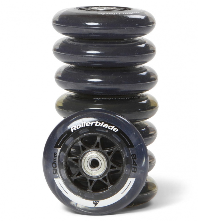 Rollerblade Wheels Performance 90er black/silver 90mm/84A