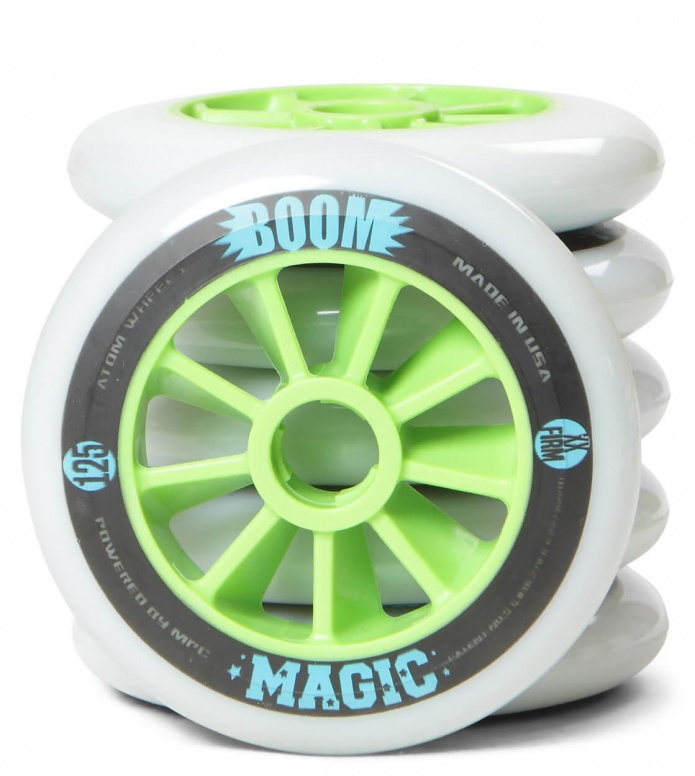 Atom Wheels BOOM Magic XX Firm 125er white/green 125mm