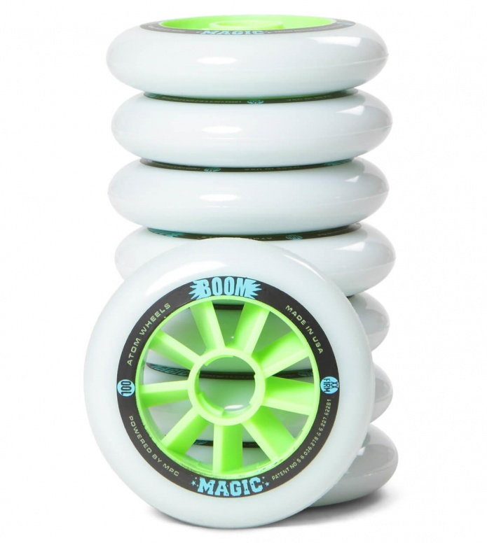 Atom Wheels BOOM Magic XX Firm 100er white/green 100mm