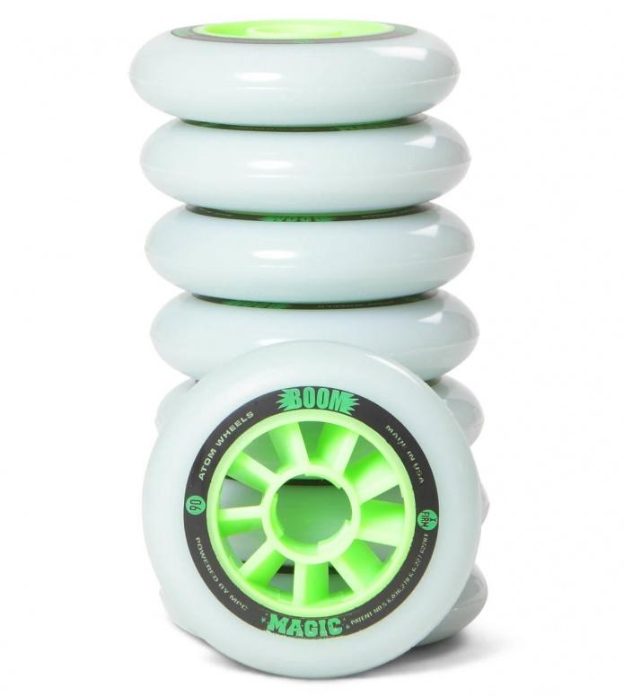 Atom Wheels BOOM Magic X Firm 90er white/green 90mm