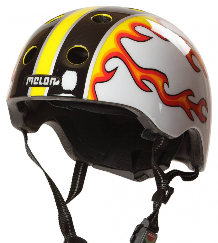 Melon Melon Helmet Fired Up white