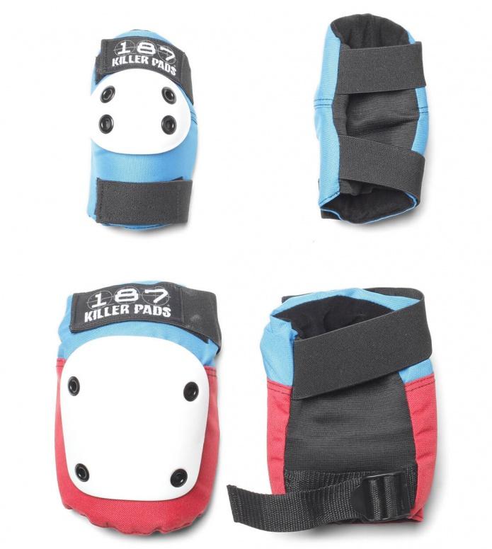 187 Killer Pads Combo Pack red/white/blue S/M