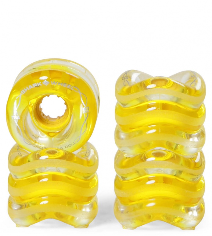 Shark Wheels California Roll 60er yellow transparent 60mm/78A