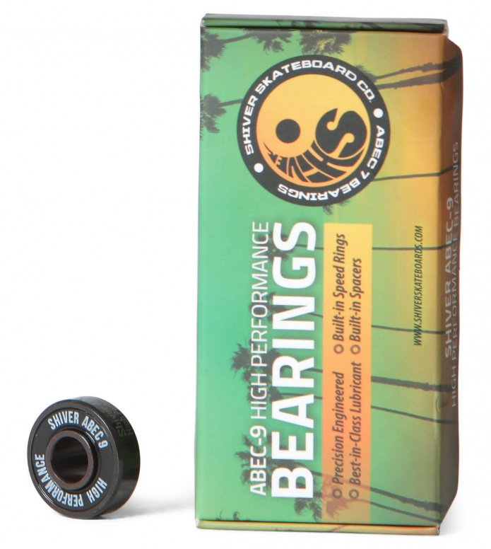 Shiver Bearings Abec 9 - 8-Pack black one size