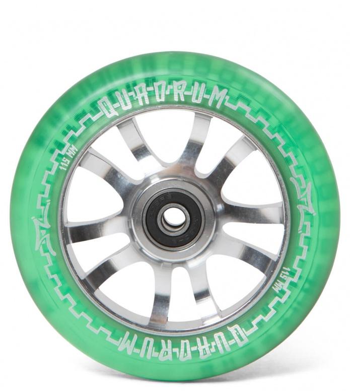 AO Wheel Quadrum Clear 115er green 115mm